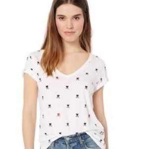 NWT LUCKY BRAND HEARTS AND CROSSBONES TEE